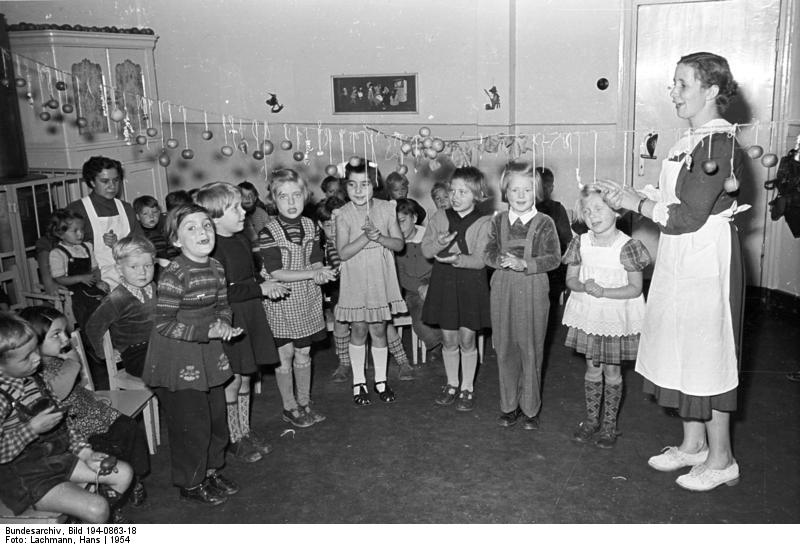 Kindergarten 1954, Deutsches Bundesarchiv