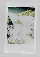 Picture of a waterfall taken with an instant camera in  Salinas Victoria