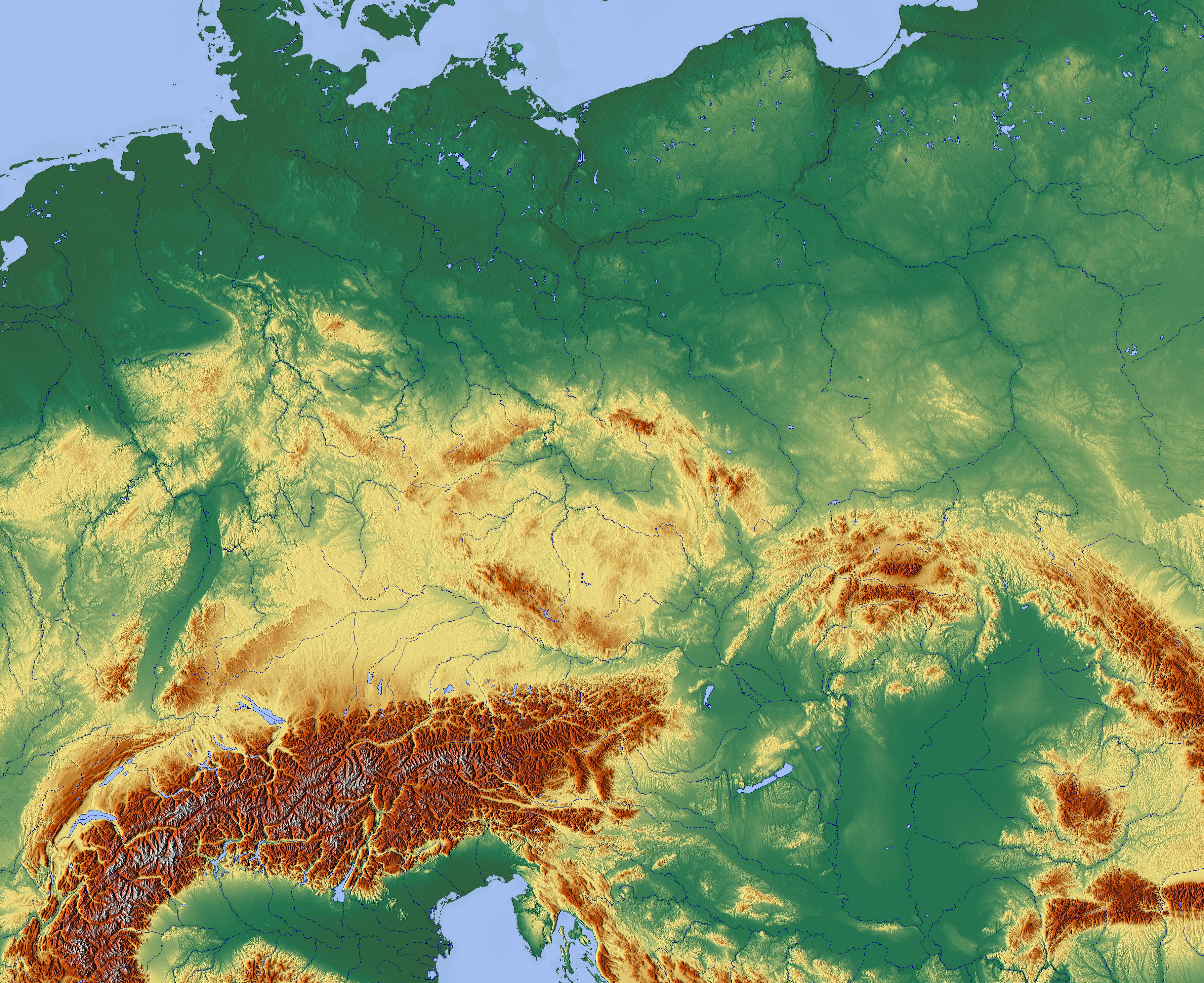 File:Central Europe relief map with waterbodies.png - Wikimedia Commons