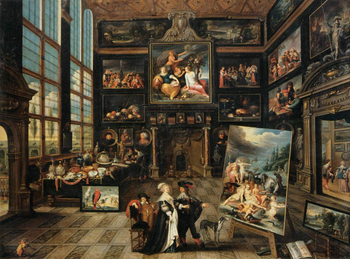 File:Cornelis De Baellieur   Interior Of A Collectoru0027s Gallery Of Paintings  And Objets D