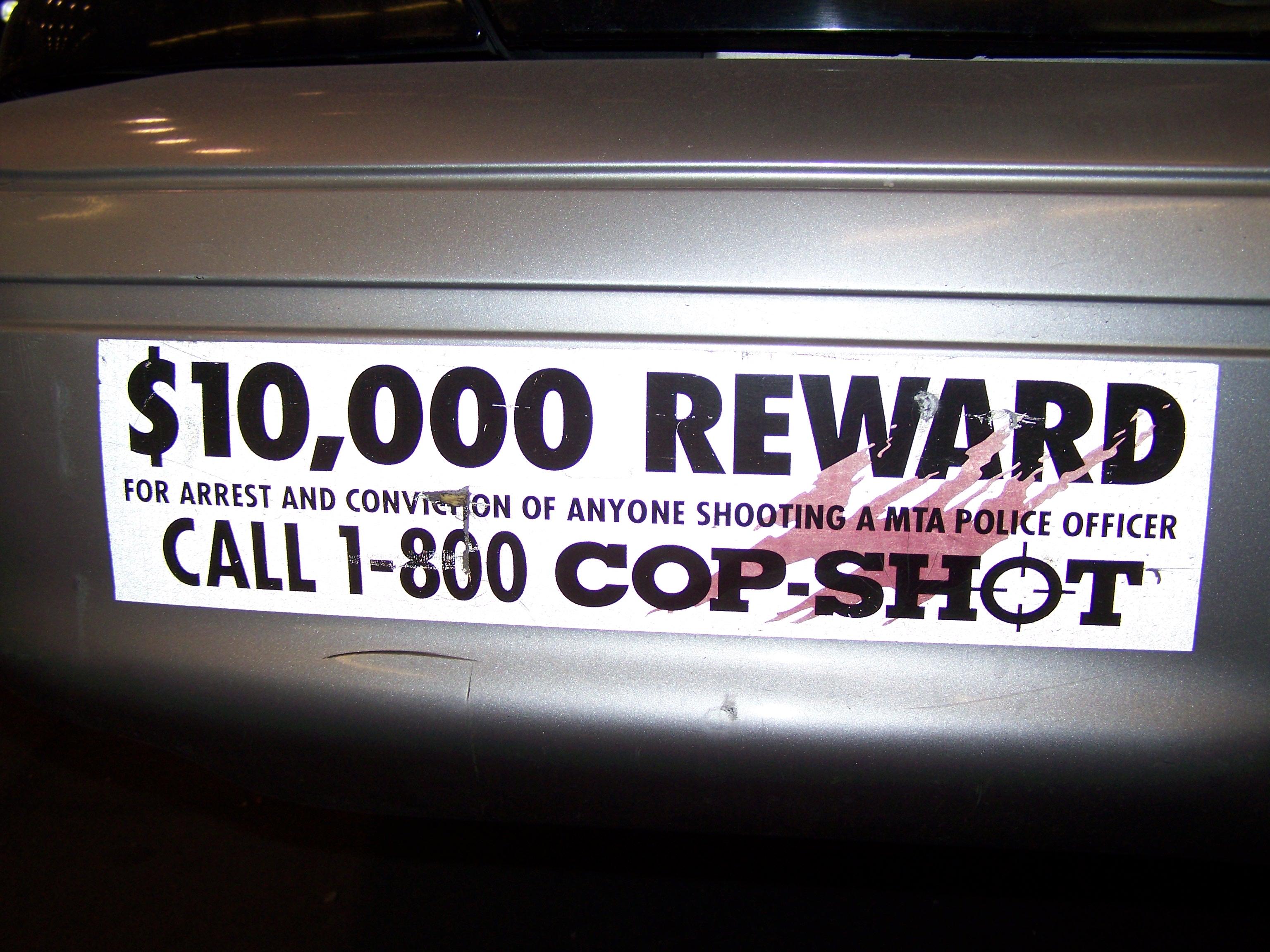 File Dollar 10000 Reward Cop Shot 2010 New York Jpg