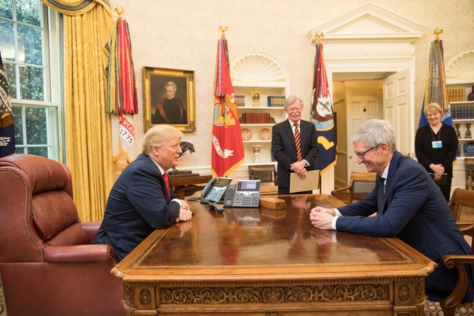 File:Donald Trump and Tim Cook 2018-04-25.jpg