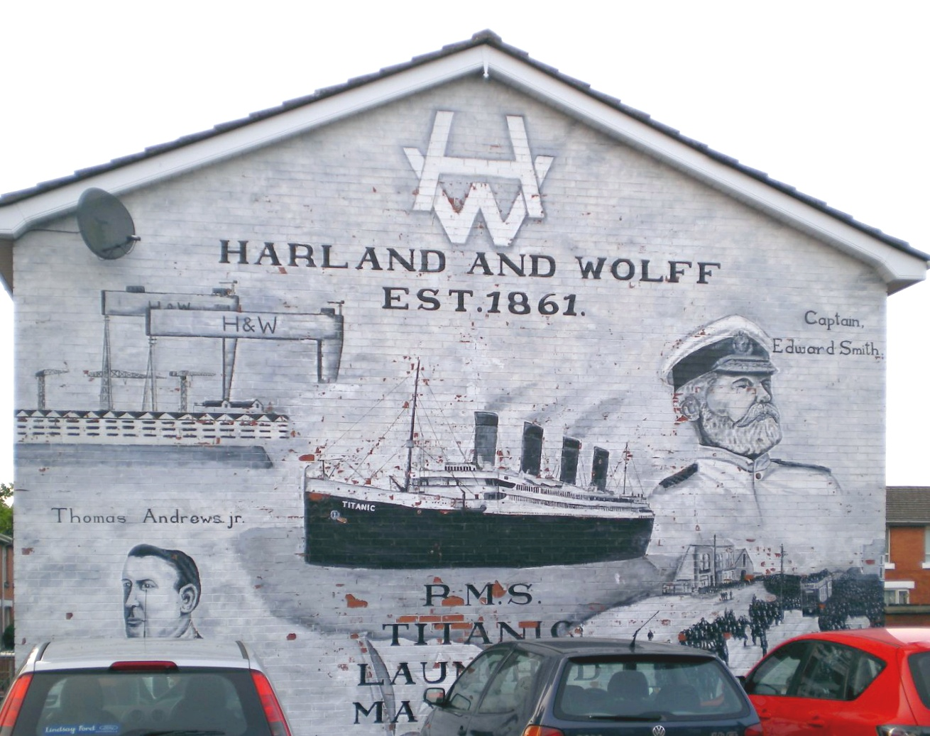 Photo Wall Murals File East Belfast Murals Titanic Off Newtownards Road Jpg