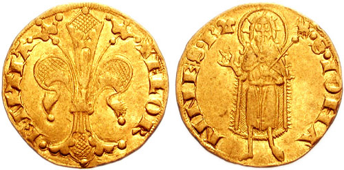 Front and back of a Florentine florin