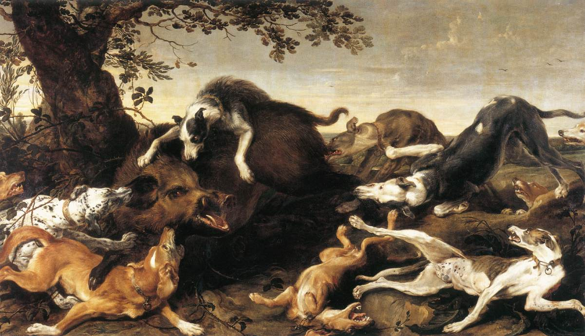 File:Frans Snyders - Wild Boar Hunt - WGA21529 jpg