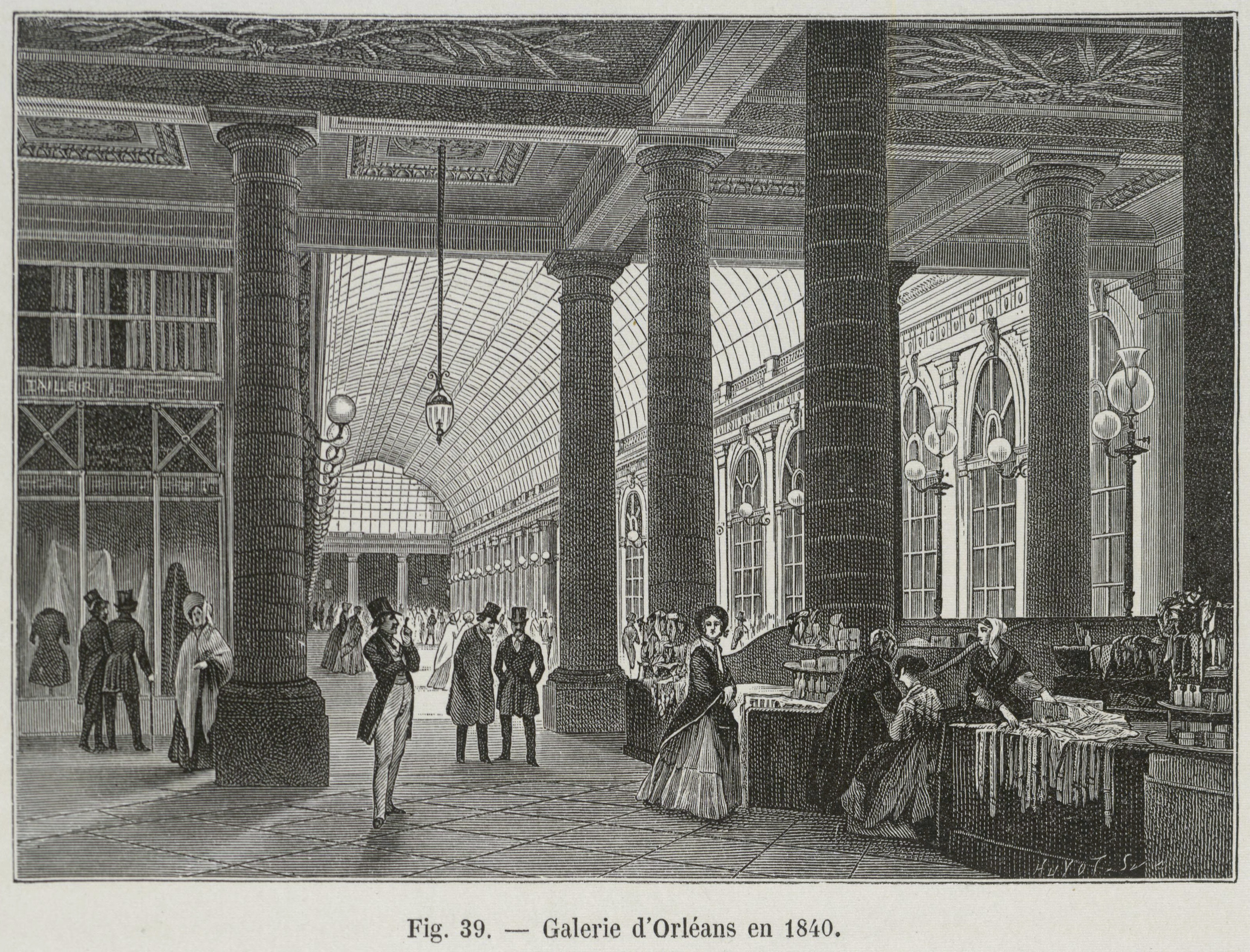 Galerie d\u0027Orl茅ans of the Palais-Royal in 1840