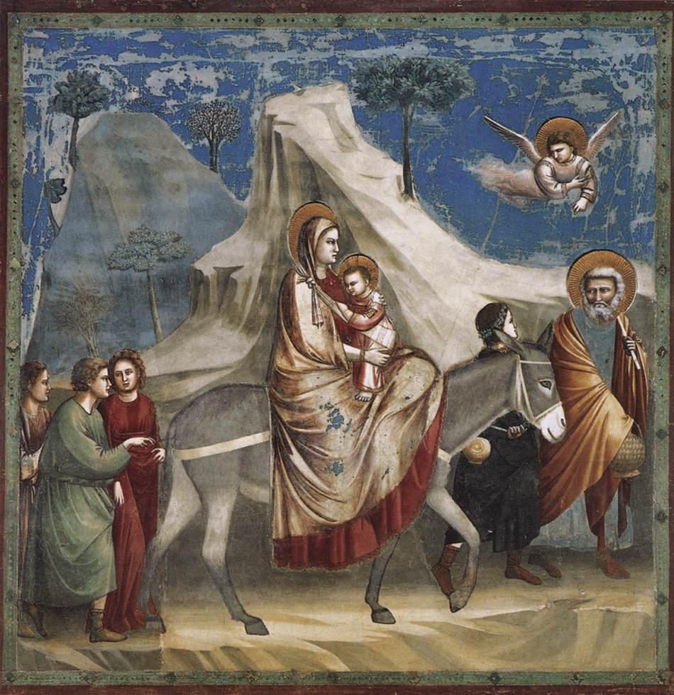 Η φυγή στην Αίγυπτο, νωπογραφία, 1303-1305, Πάντοβα, Cappella degli Scrovegni