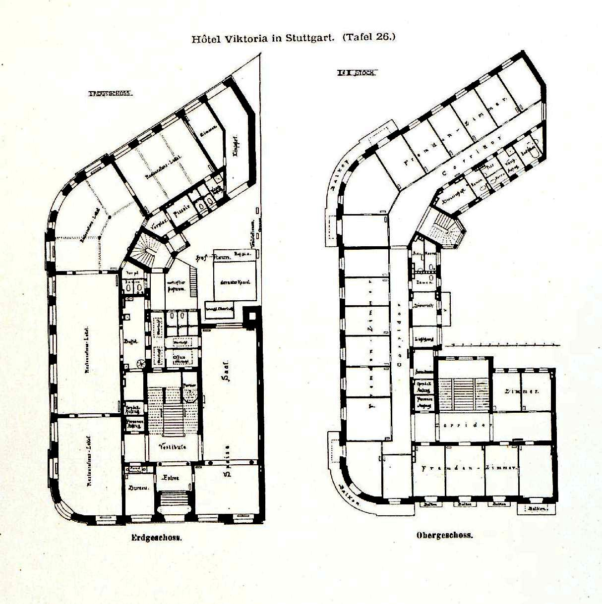 Stuttgarter Architekten file hotel viktoria in stuttgart architekten bihl woltz tafel 26