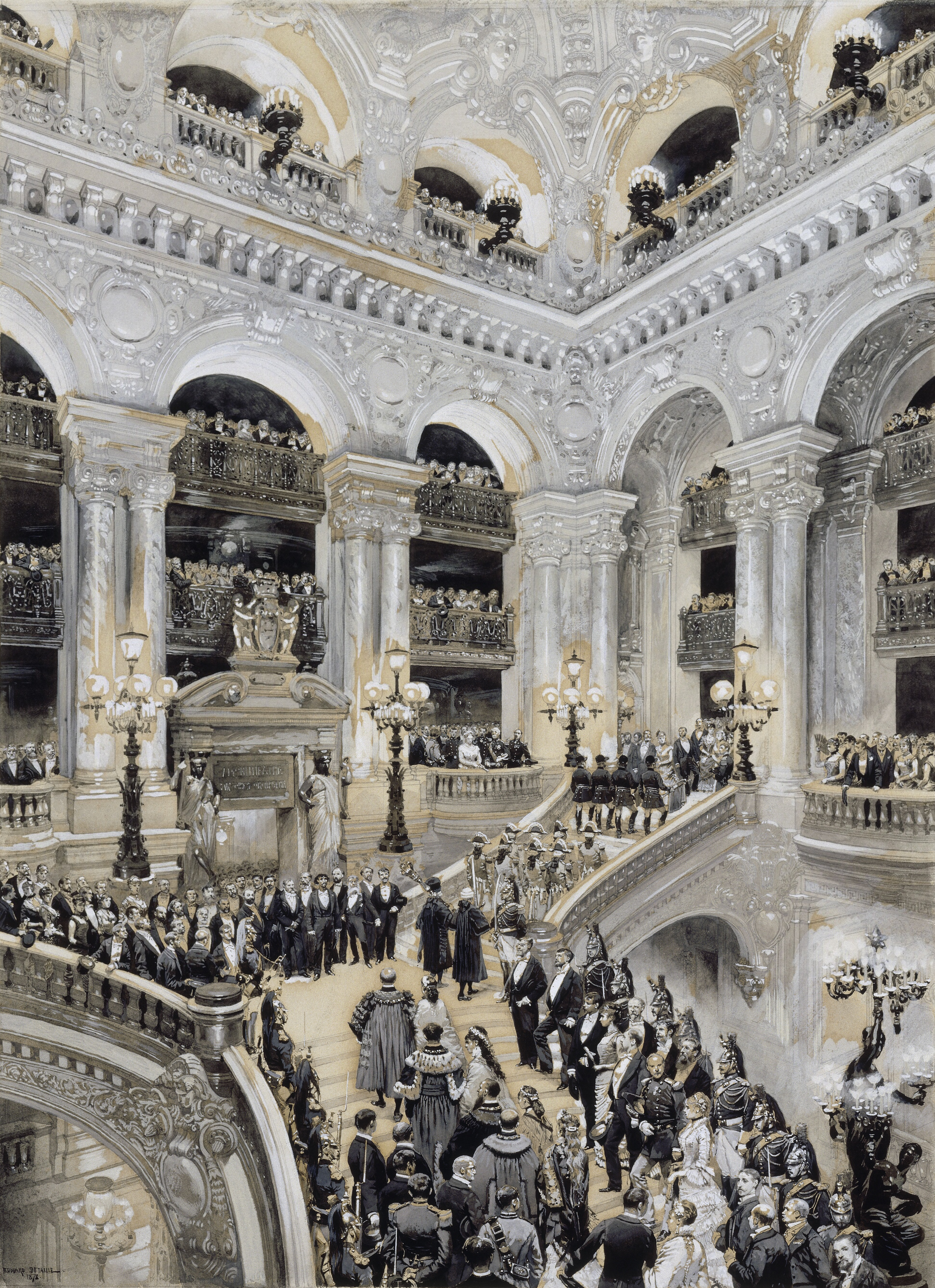 File inauguration of the paris opera in 1875 by detaille for Architecture xix