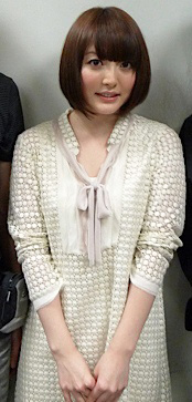 Kana Hanazawa, a notable Japanese voice actress in anime. Kana Hanazawa.jpg
