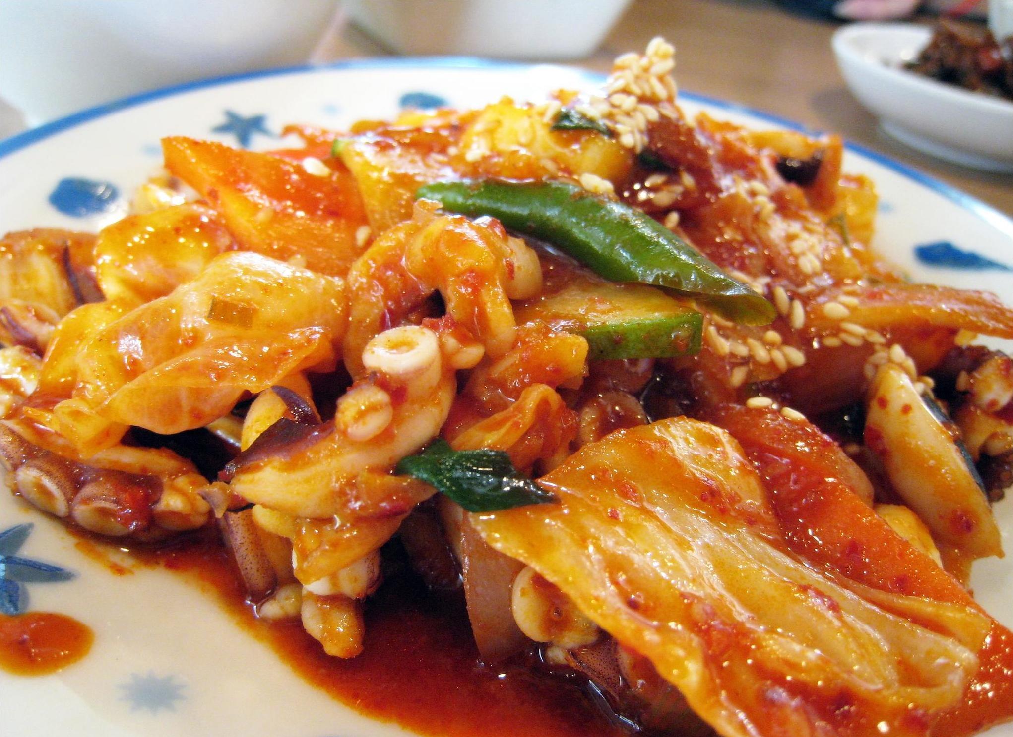 File:Korean cuisine-Nakji bokkeum-01.jpg - Wikimedia Commons