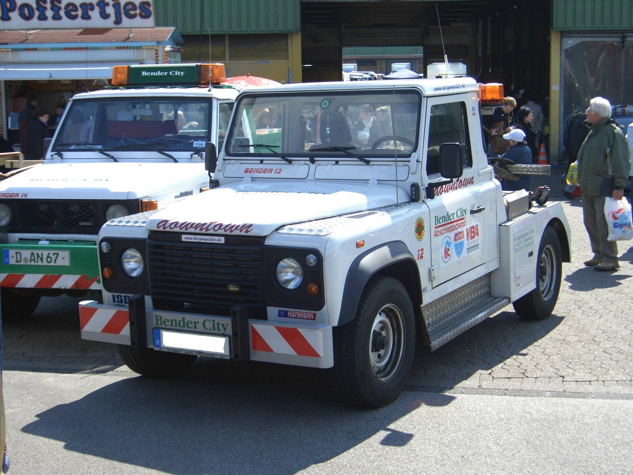 File:Land Rover Defender 90 breakdown truck conversion BENDER CITY
