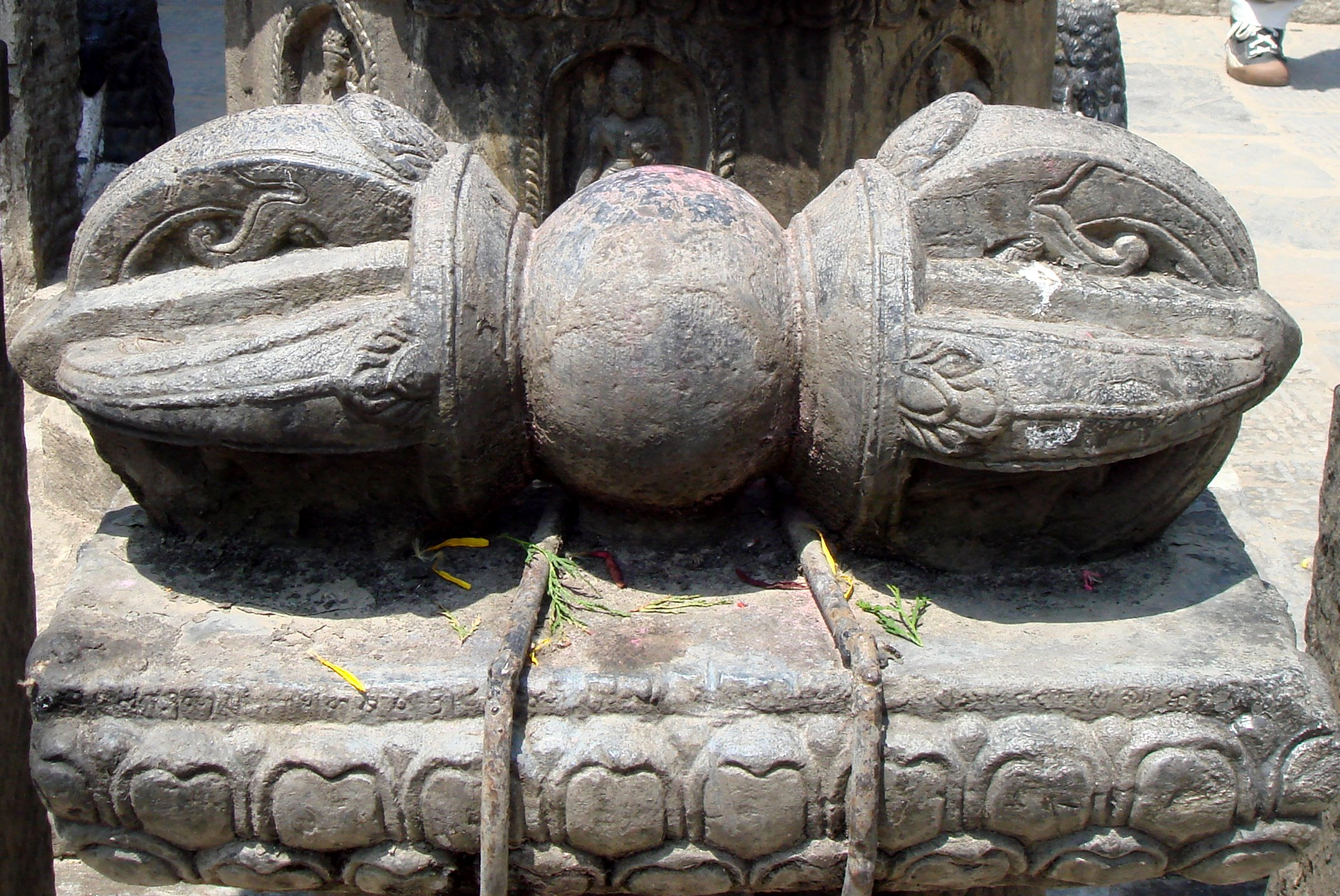 File large carved stone dorje in patan nepal g wikipedia