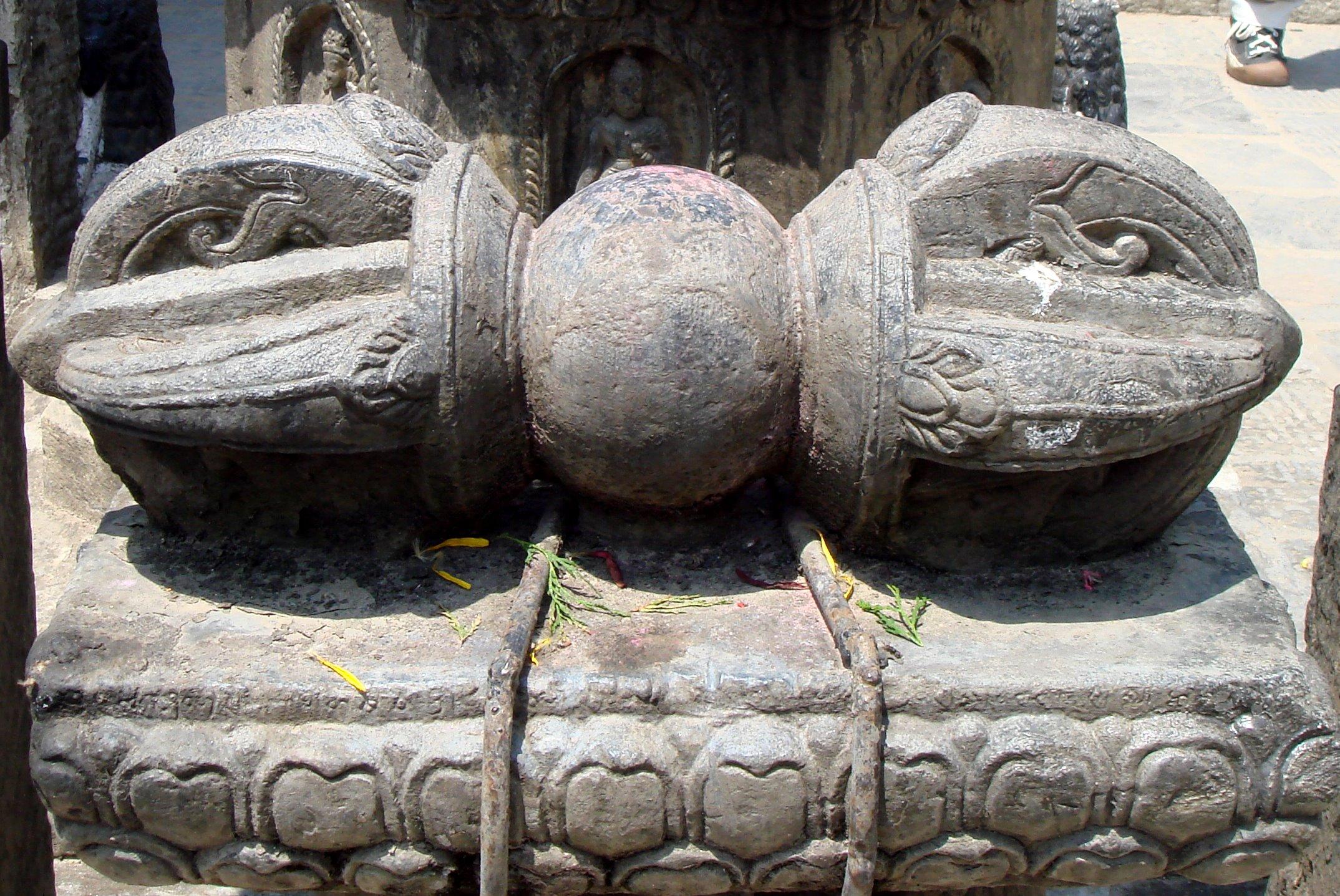 File large carved stone dorje in patan nepal g wikipedia