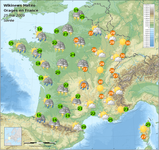 File m t o france 25 mai 2009 soir wikimedia commons - Meteo a la carte france 3 ...