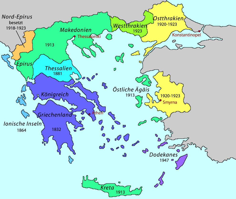 landkarte griechische inseln