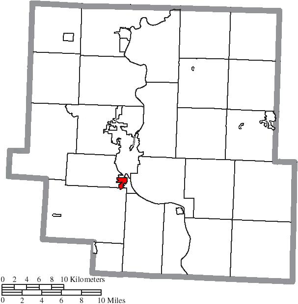Zanesville Ohio Map on
