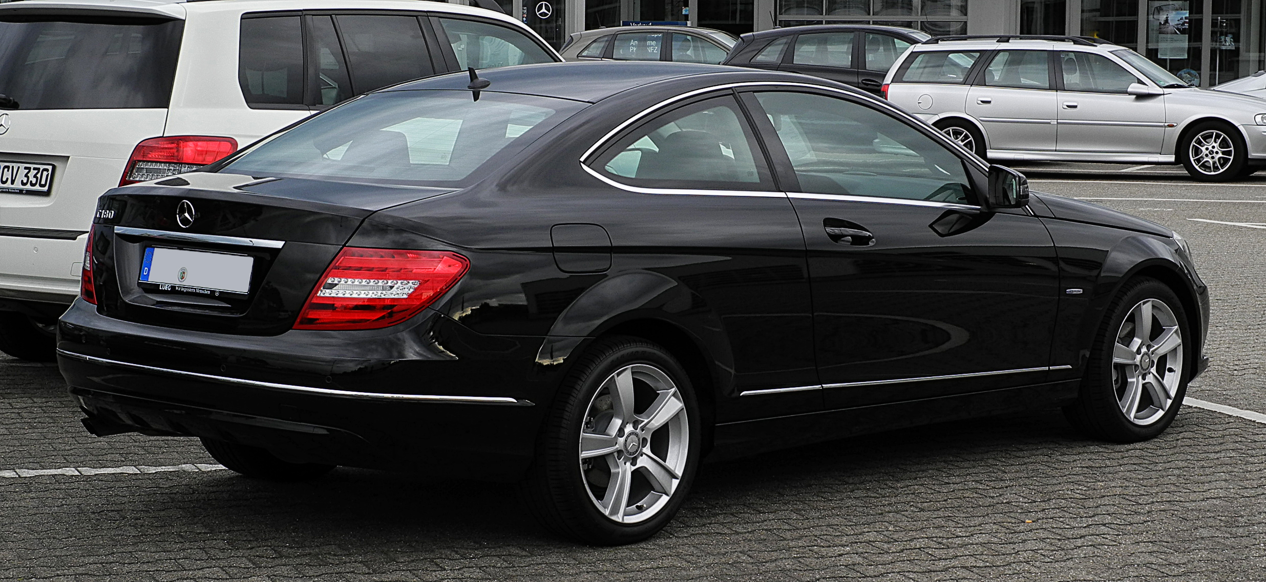 file mercedes benz c 180 blueefficiency coup c 204 heckansicht 10 juli 2011. Black Bedroom Furniture Sets. Home Design Ideas