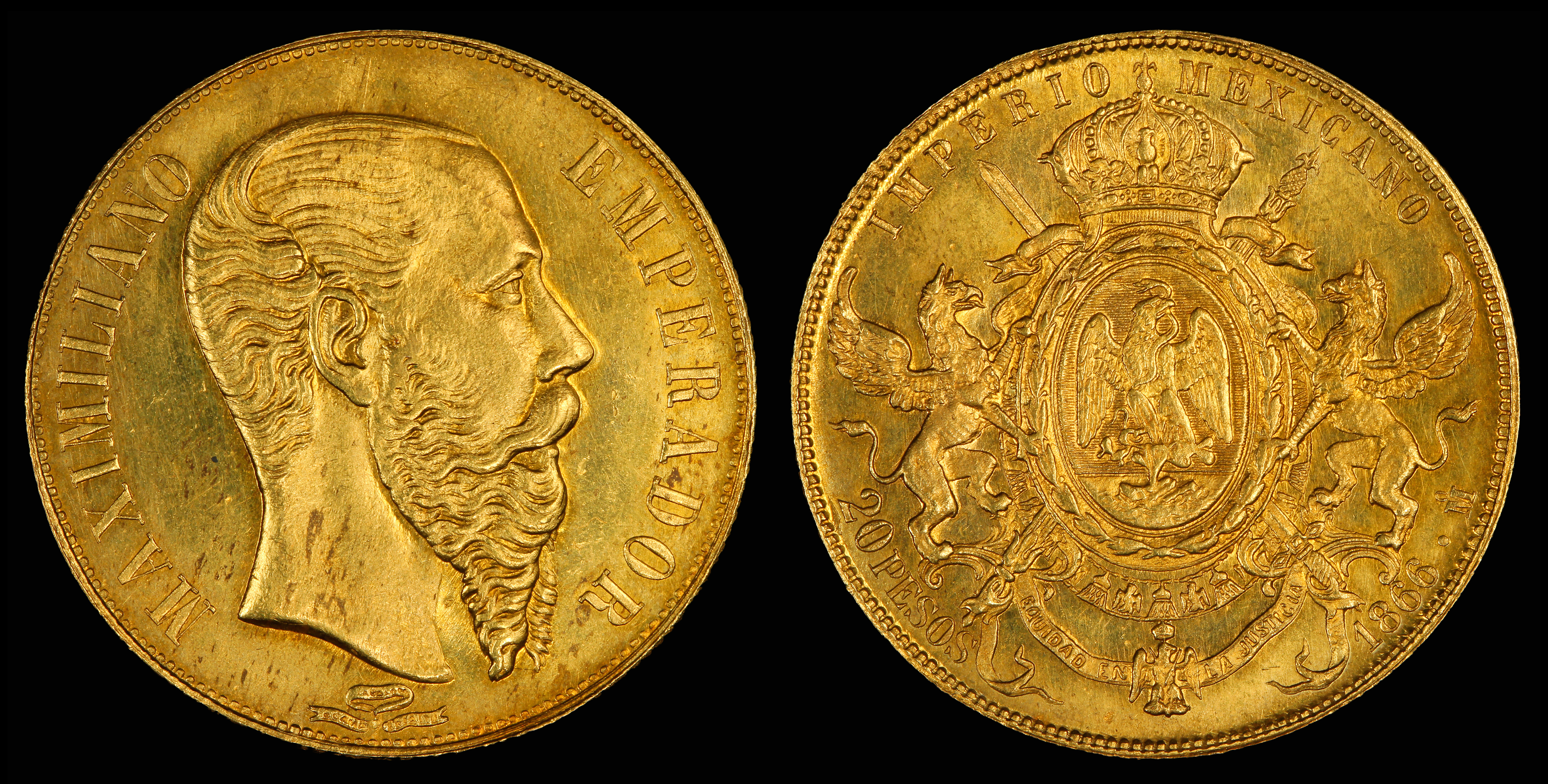 Mexican peso wikipedia maximilian i of mexico depicted on a 20 peso gold coin 1866 biocorpaavc Images
