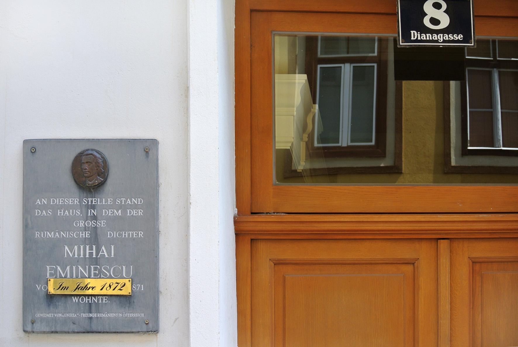 Mihai Eminescu, GT Wohnhaus Dianagasse Nr.8, Wien 3.jpg