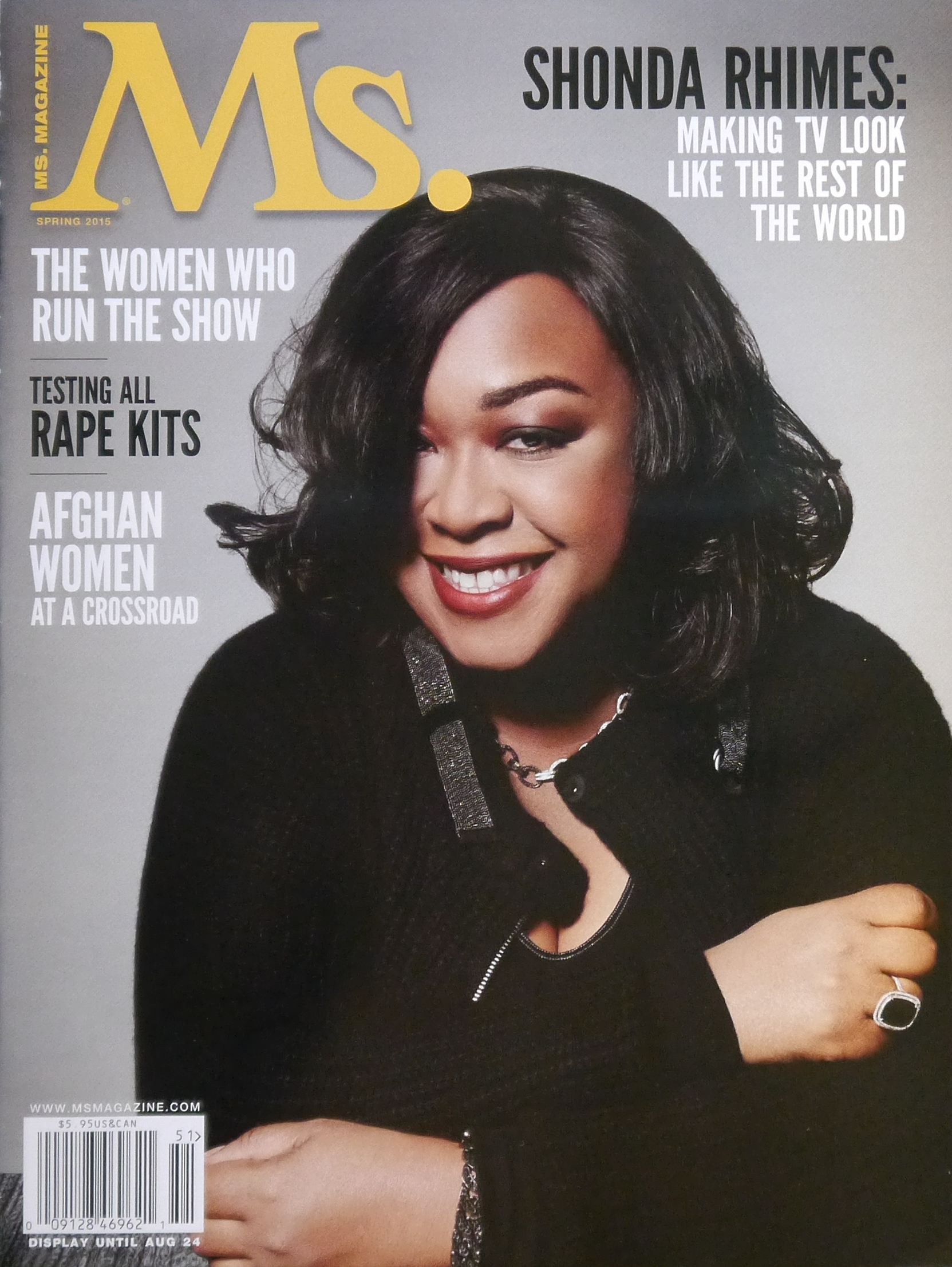 Rhimes on the cover of ''[[Ms. magazine|Ms.]]'' in 2015