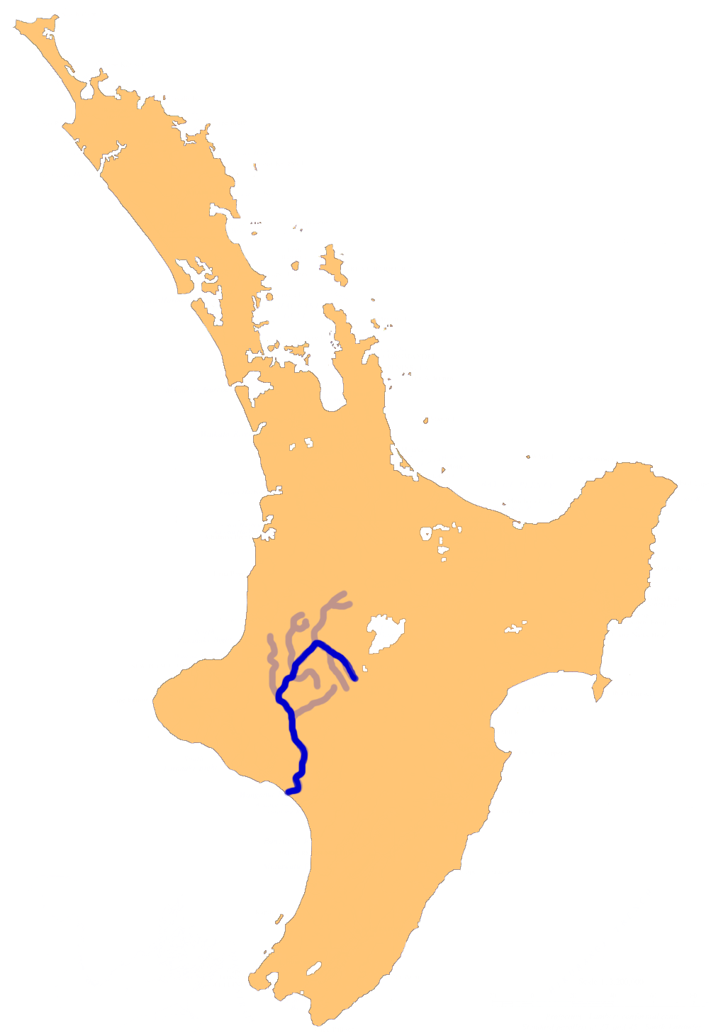 The course of the Whanganui