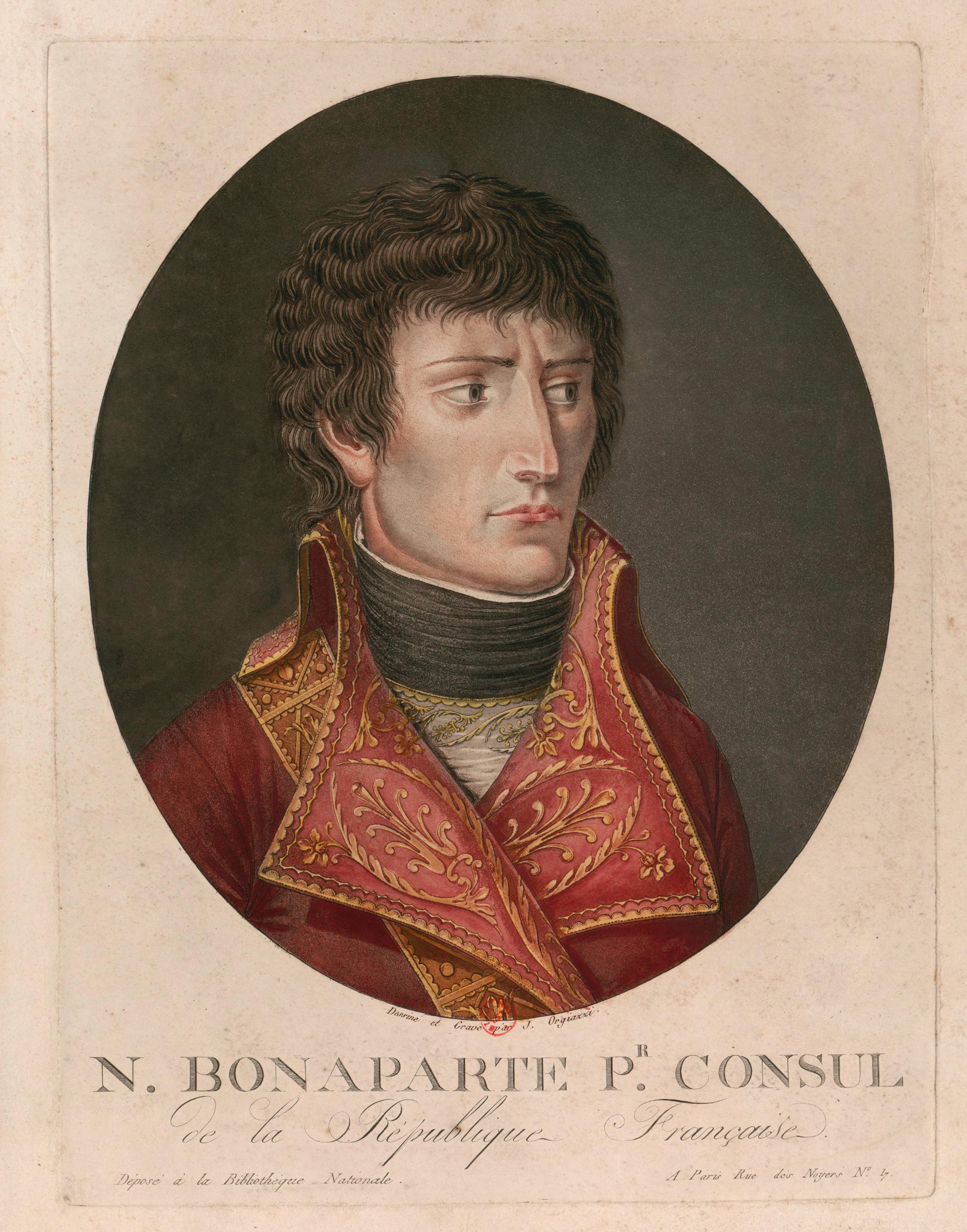 """""""N. Bonaparte, premier consul de la République française"""", par J. Alexis Orgiazzi"""