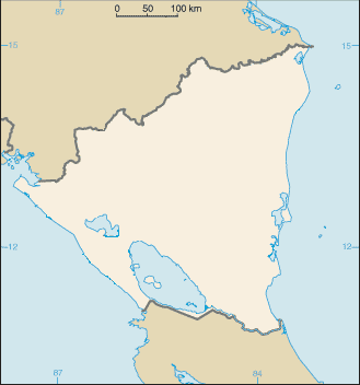 Location map Nicaragua