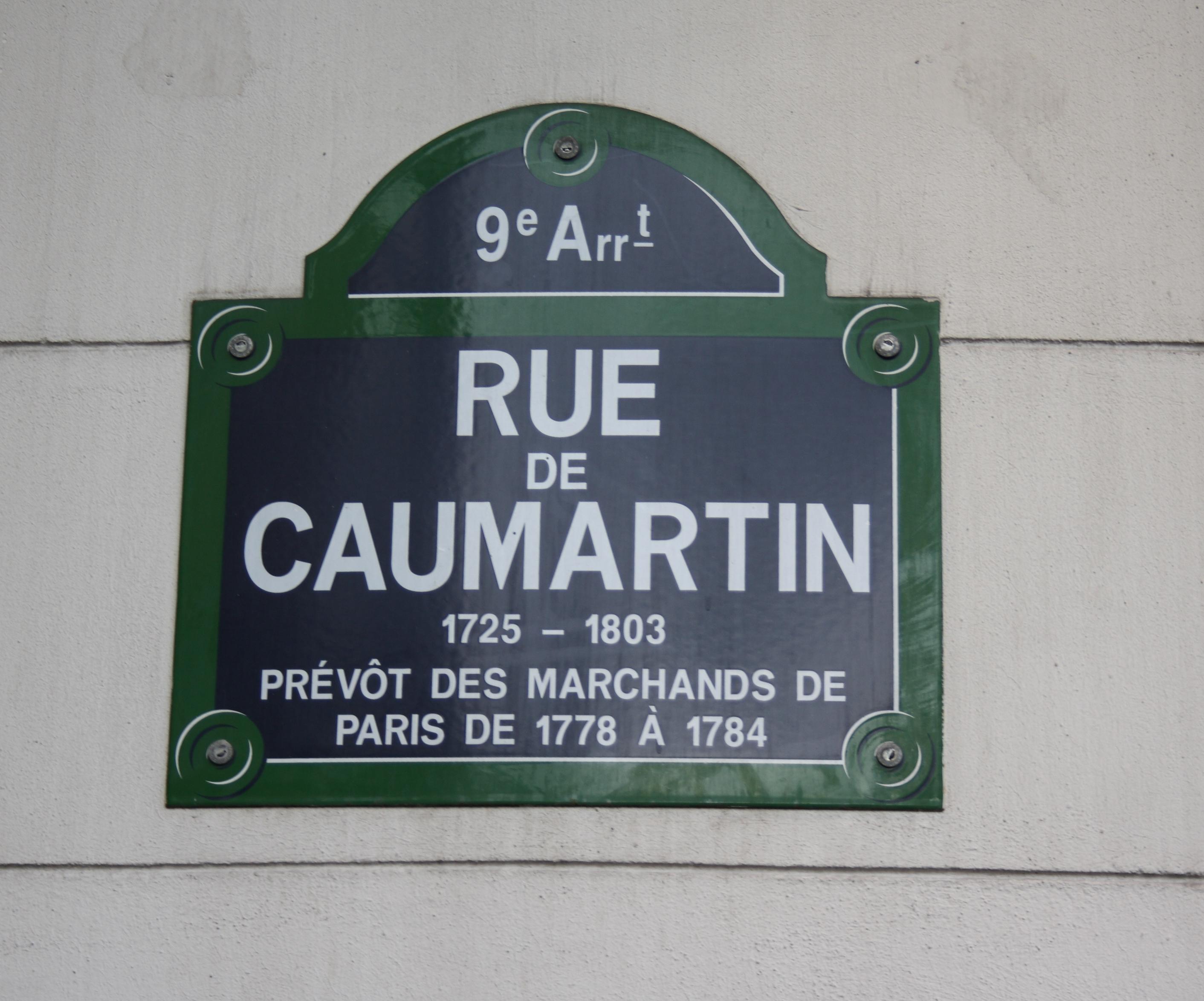 Rue Caumartin  Paris Restaurant Map