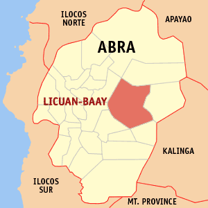 Mapa na Abra ya nanengneng so location na Licuan-baay