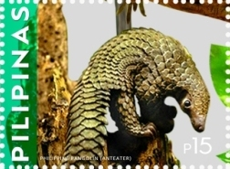 Philippine pangolin 2015 stamp of the Philippines.jpg