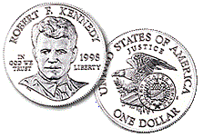 English: 1998 Robert Kennedy Silver Dollar.