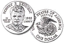 English: 1998 Robert Kennedy Silver Dollar.
