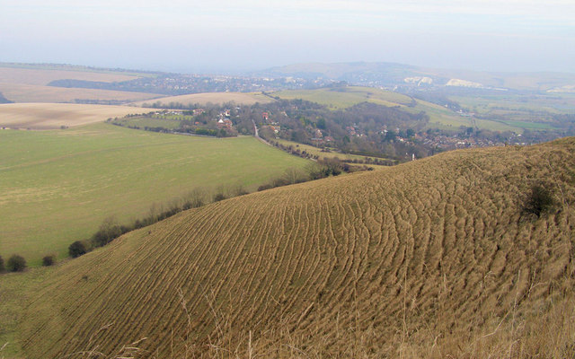 Ridges on Kingston Ridge near Lewes - geograph.org.uk - 1141938