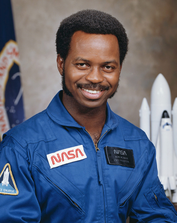 Astronaut Ron McNair, NASA photo Source: Wikipedia (NASA site unavailable January 2019) Ronald_mcnair.jpg