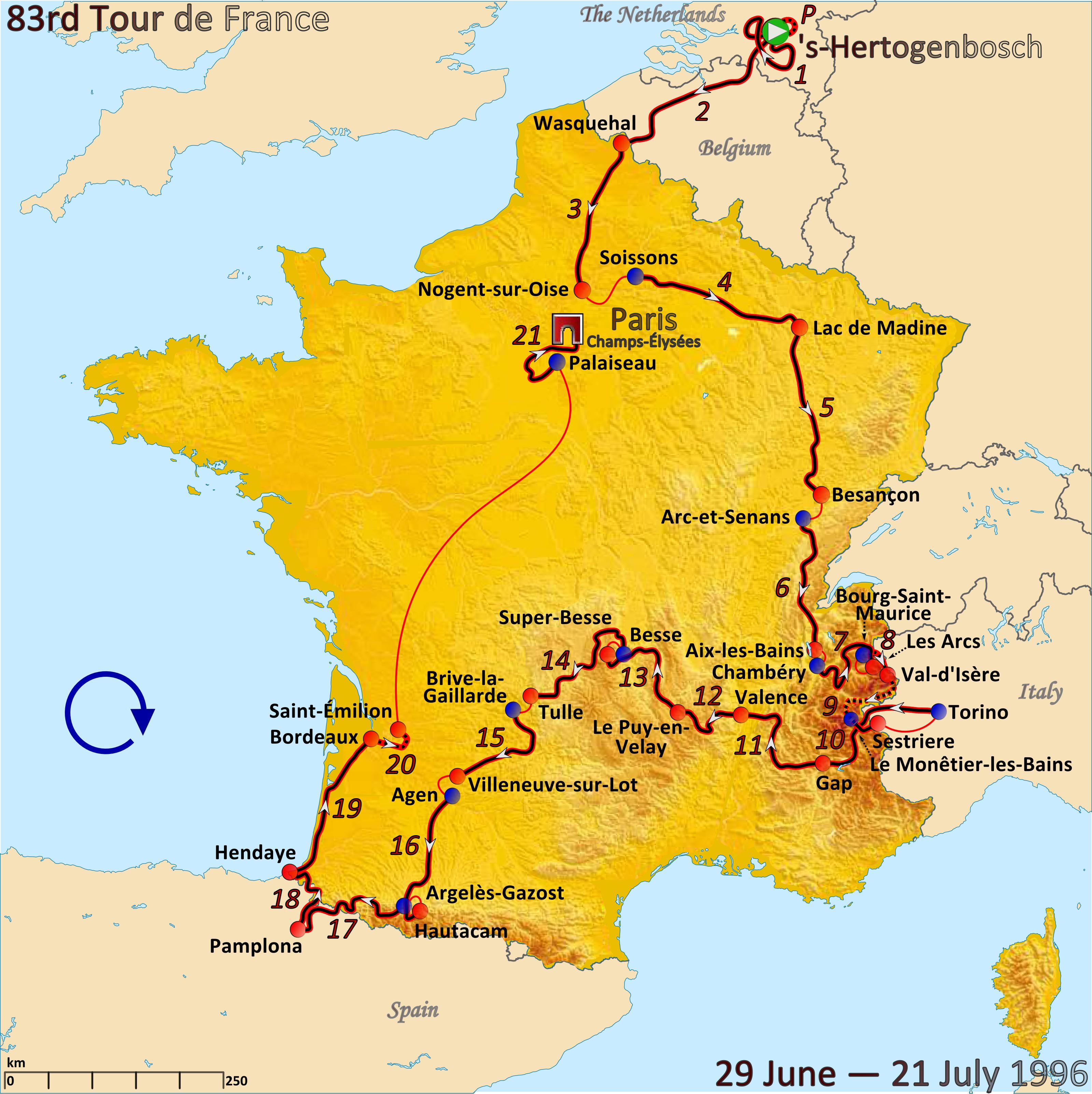 Depiction of Tour de Francia 1996