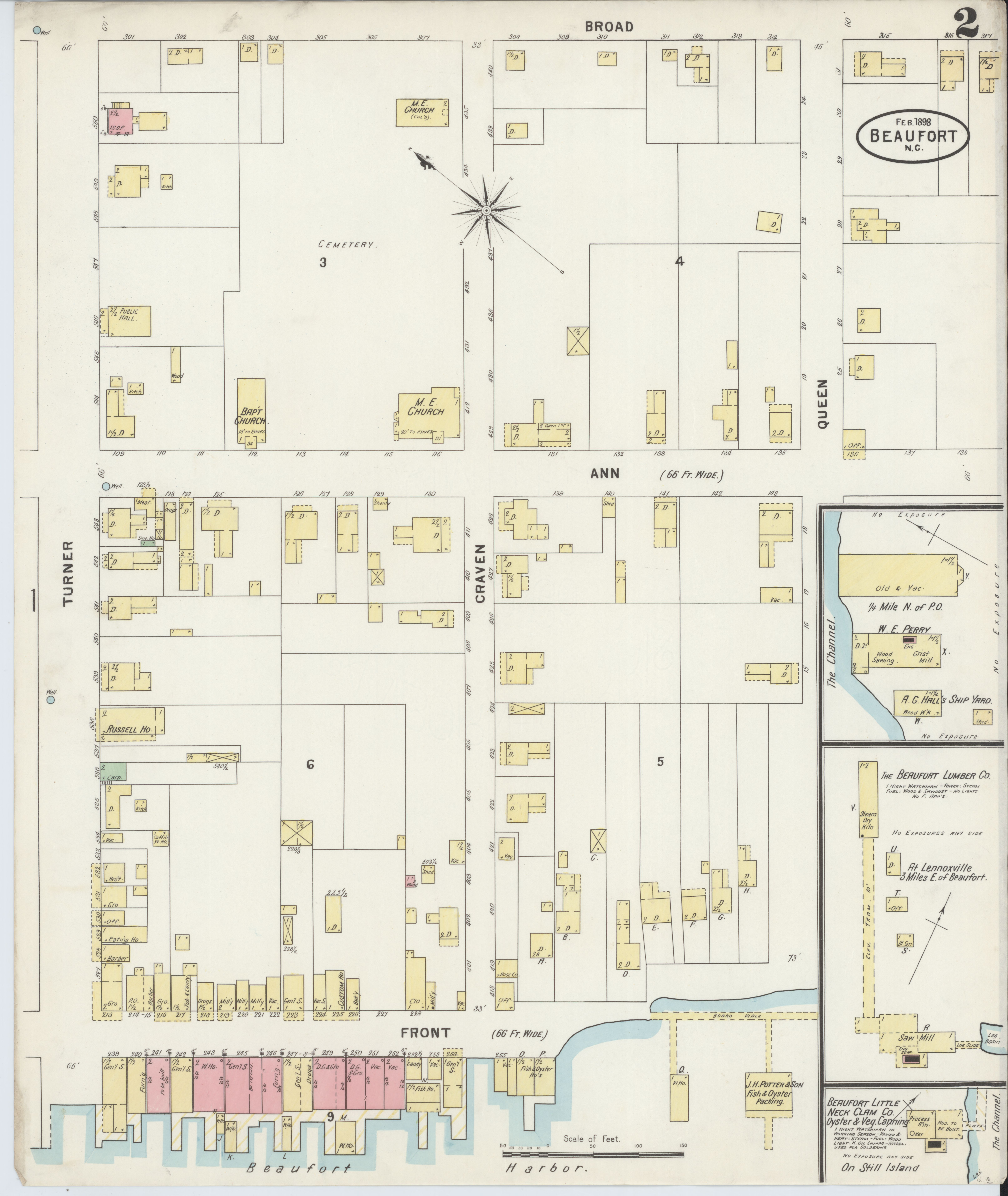 Carteret County Nc Map.File Sanborn Fire Insurance Map From Beaufort Carteret County
