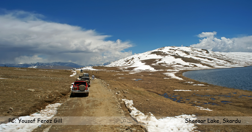 Sheosar Lake is a lake situated in Deosai National Park, in Gilgit-Baltistan province of northern Pakistan. It is located at the height of 4,142 metres.