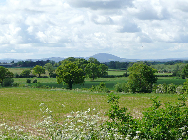 Shropshire cropfields and The Wrekin - geograph.org.uk - 1460922