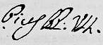 Signature of Pius VII.