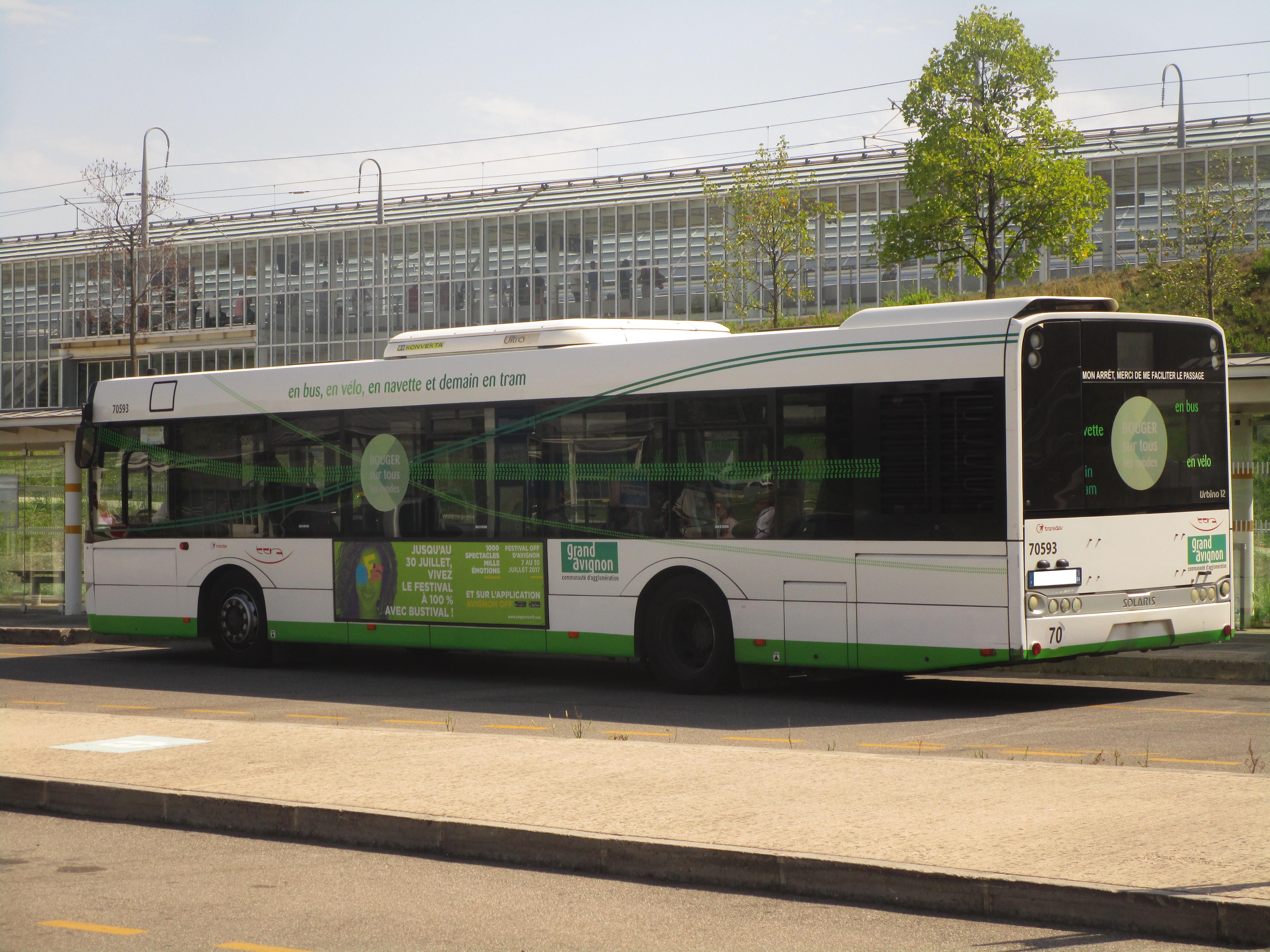 File solaris urbino 12 n 70593 tcra avignon tgv jpg - Ligne bus avignon ...