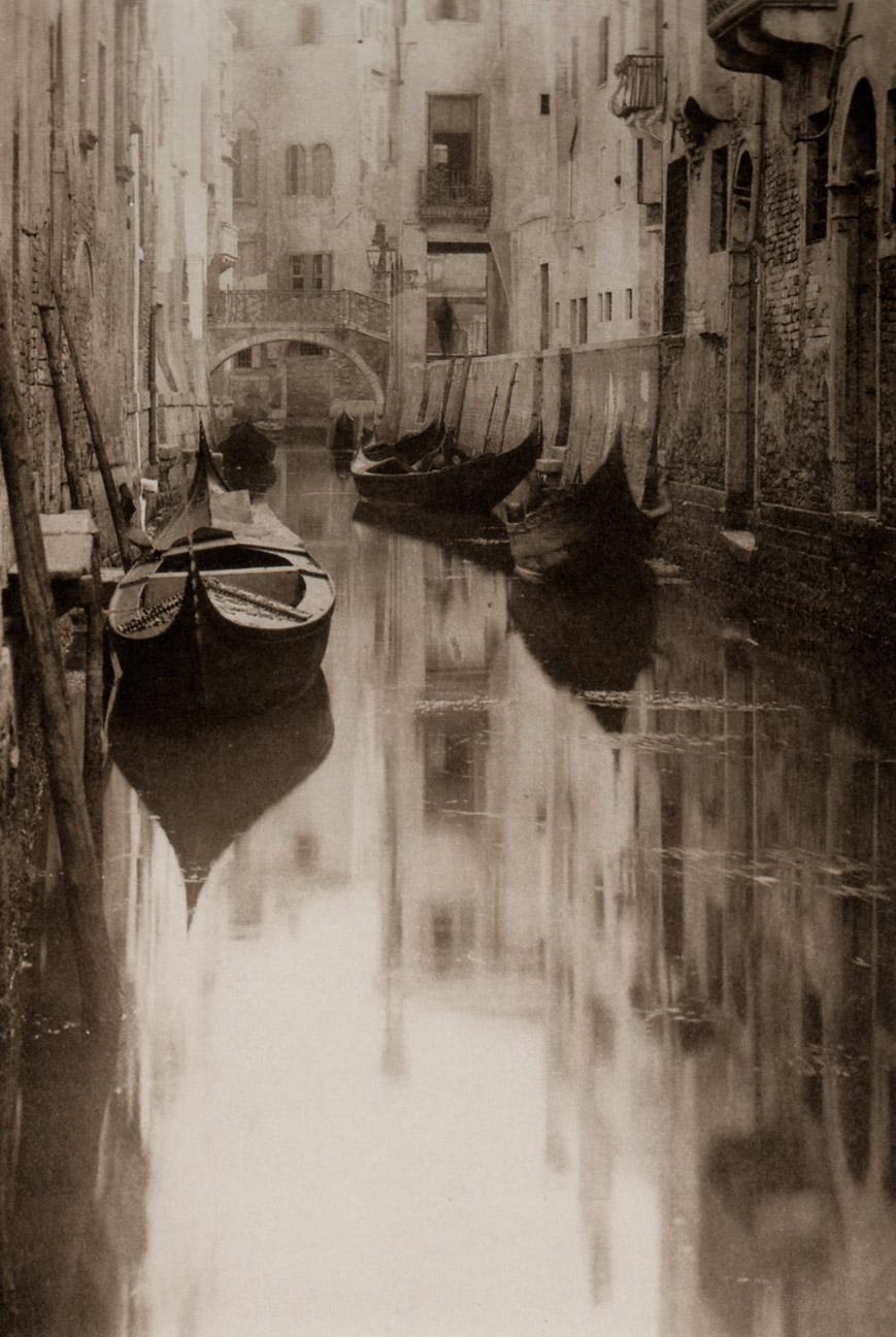 """Venetian Canal"" by Alfred Stieglitz"