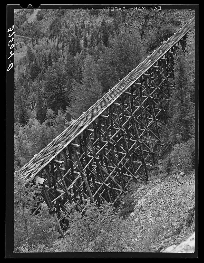 File:Trestle bridge near Ophir Colorado1940.jpg