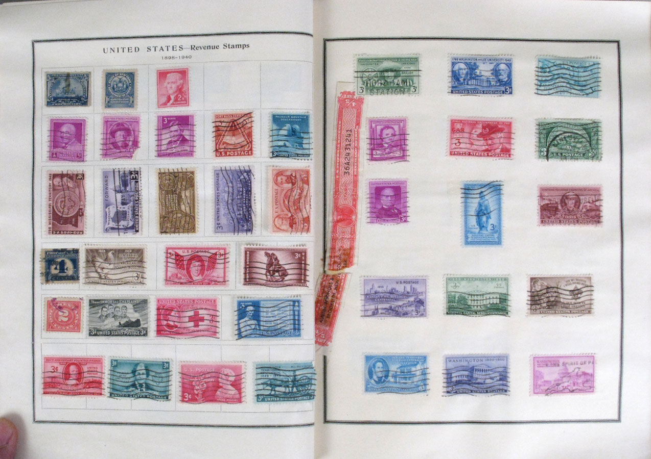 File Us Postage Stamps On Album Pages 4 Jpg Wikimedia Commons