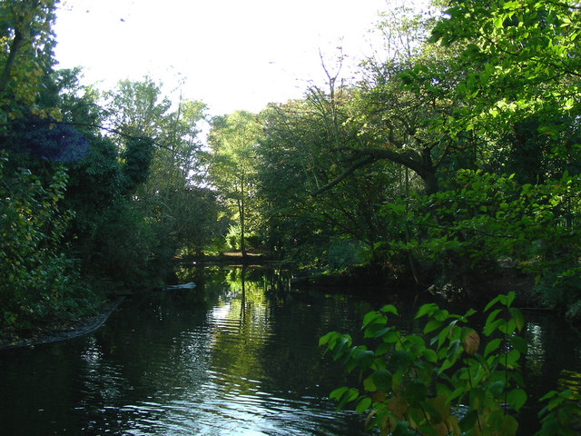 File:Upminster - The Moat in Clock House Gardens - geograph.org.uk - 271963.jpg