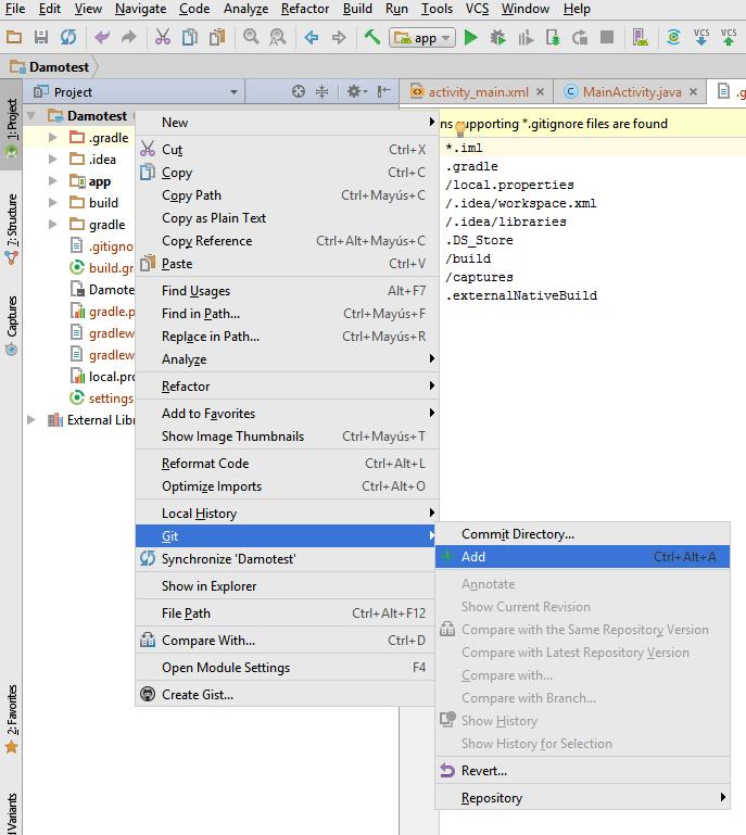 Guia ràpida d'integració de Bitbucket amb Android Studio