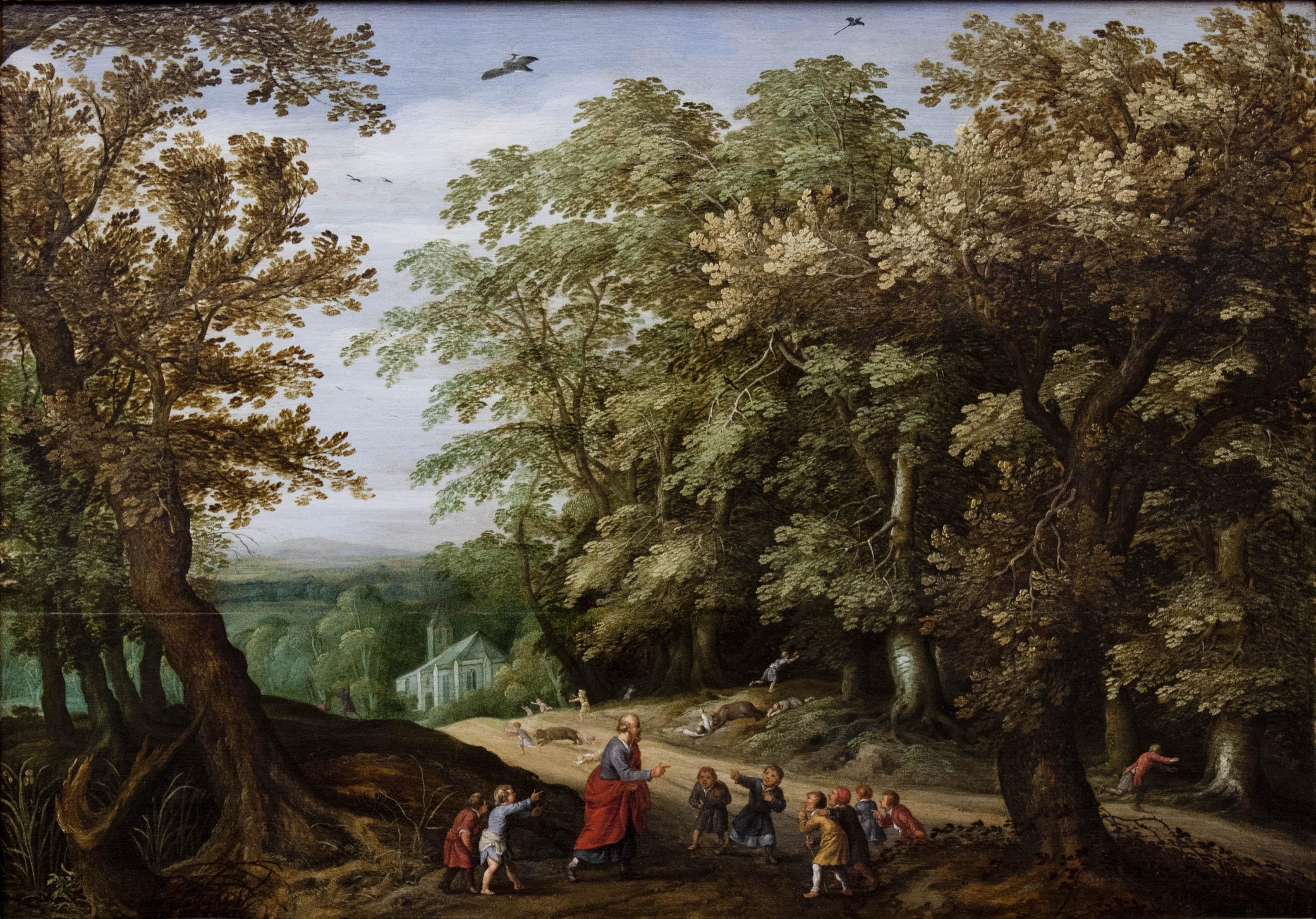 The Prophet Elisha curses the children who mocked him, by Willem van den Bundel