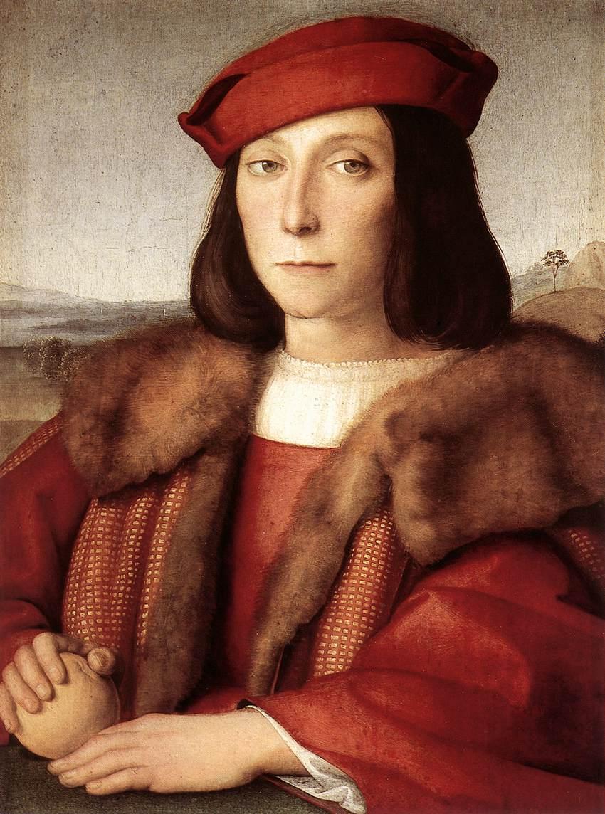 Raphaël, Jeune homme à la pomme, 1504, Offices