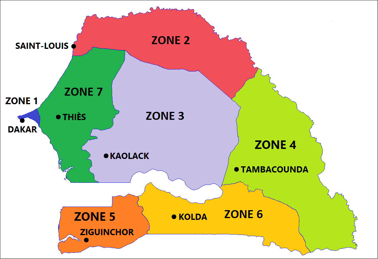 Carte Du Senegal.File Zones Militaires Senegal Carte Map Png Wikimedia Commons