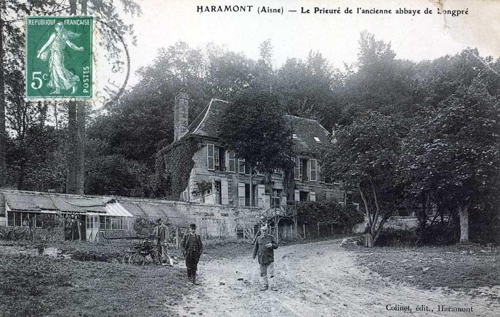 carte postale du prieuré de longpré